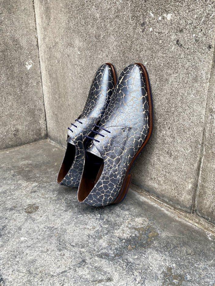 3x Floris van Bommel Sale Schuhe in der Trendfarbe Blau