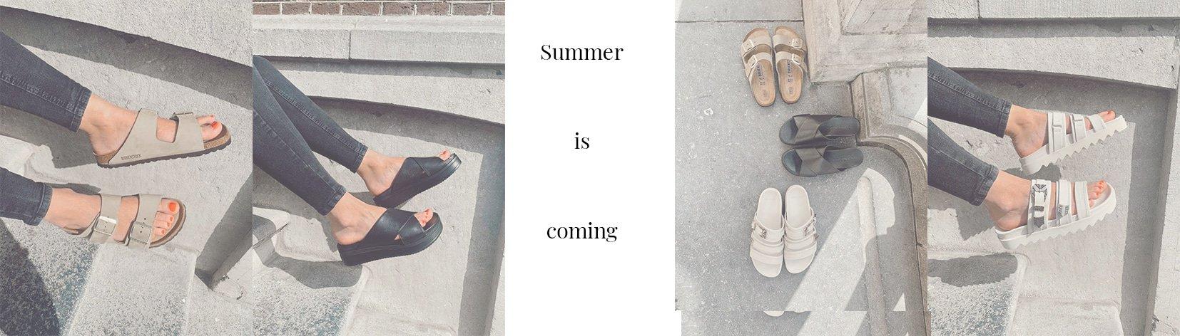 Bereit für das schöne Wetter mit diesen klobigen Slippers